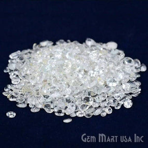 50 Carat White Topaz Mix Shape Wholesale Loose Gemstones - GemMartUSA