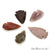 5pc Lot Arrowhead Cut Gemstones, 33x21mm Handcrafted Stone, Loose Gemstone, DIY Pendant, DIY Jewelry