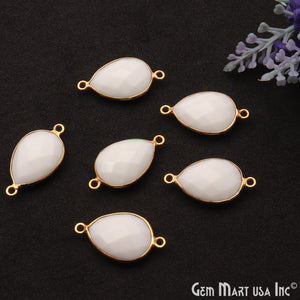 White Agate Gemstone Connector