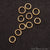 10pc Lot Open Jump Rings 4mm Gold Plated Finding Jewelry Charm - GemMartUSA