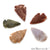 5pc Lot Arrowhead Cut Gemstones, 40x22mm Handcrafted Stone, Loose Gemstone, DIY Pendant, DIY Jewelry