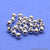 5pc Lot Bead Finding 5mm Round Ball Jewelry Making Charm (Pick Your Plating) - GemMartUSA