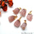 DIY Rough Rose Quartz Gemstone 40x22mm Gold Edge Necklace Pendant 1PC
