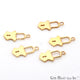 Lock Shape Gold Plated 16x8mm Finding Charm Connector