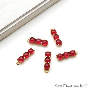 Gemstone 22x6mm Prong Setting Gold Plated Component Connector (Pick Gemstone) - GemMartUSA