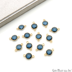 Round 8mm Gold Plated Double Bail Gemstone Connectors (Pick Your Lot Size)
