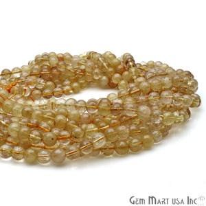 Golden Rutile 8-9mm Cabochon Rondelle Beads Strands 14Inch