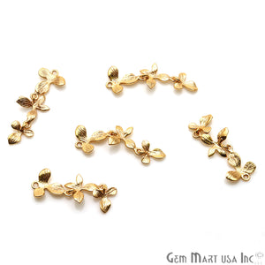 Flower Shape Finding 32x11mm Gold Plated Finding Connector - GemMartUSA