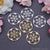 Crystal Grid 40x37mm Chandelier Finding Charm Connector (Pick Your Metal)