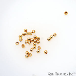 10pc Lot Bead Finding 2mm Round Ball Jewelry Making Charm (Pick Your Plating) - GemMartUSA