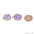 DIY Geode Druzy 21x13mm Gold Electroplated Loop Connector Studs Earrings