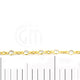 Crystal 4mm Round Gold Plated Continuous Connector Chain - GemMartUSA
