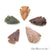 5pc Lot Arrowhead Cut Gemstones, 31x19mm Handcrafted Stone, Loose Gemstone, DIY Pendant, DIY Jewelry