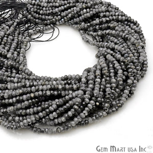 Cats Eye Jade 3-4mm Faceted Rondelle Beads Strands 14Inch
