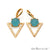 Gemstone 27x20mm Gold Plated Prong Setting Triangle Earring Connector (Pick Stone)