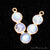 DIY Rainbow Moonstone 22x19mm Double Bail Chandelier Finding Component (Pick Your Metal) - GemMartUSA