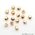 5pc Lot Hexagon Cube Gold Finding, Tiny Cube Findings, Bracelets Charm - GemMartUSA