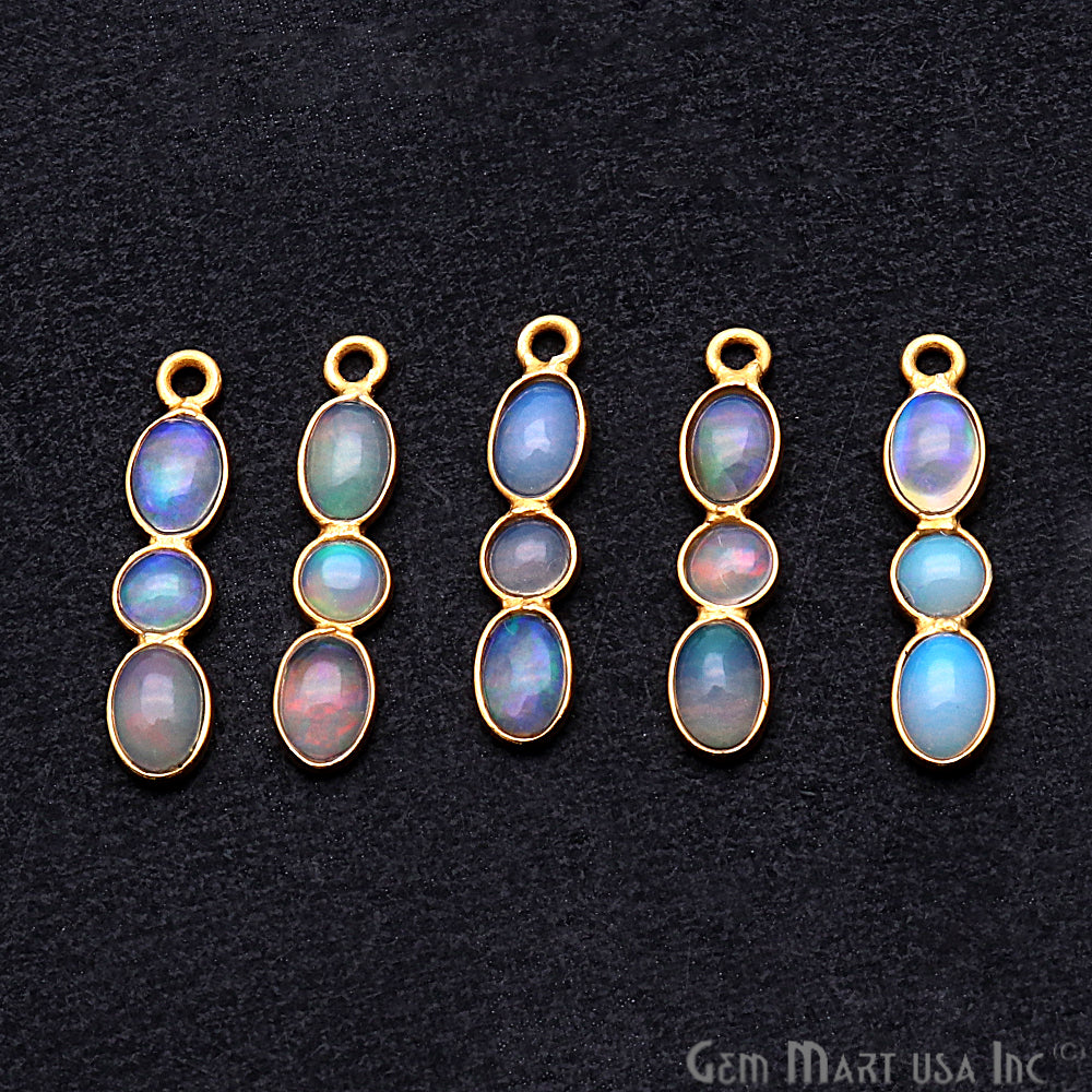 DIY Opal October Birthstone 20x4mm Chandelier Finding Component (Pick Your Plating) (13093)