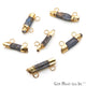 Rough Kyanite 29x12mm Gold Electroplated Double Bail Connector - GemMartUSA