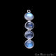 DIY Rainbow Moonstone Silver Plated 35X8mm Line Shape Chandelier Finding Component - GemMartUSA
