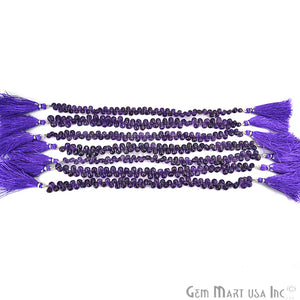 Amethyst Teardrops Faceted Gemstone 5x4mm Rondelle Beads