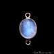Rainbow Moonstone Cabochon Gemstone Connector