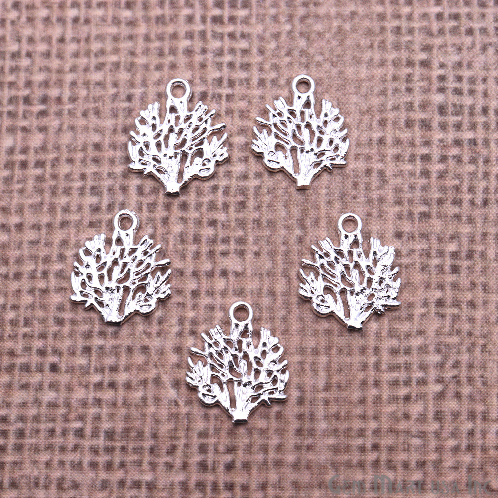 5 Pc Lot Tree Shape Findings, Filigree Findings, Findings, Jewelry Findings, 17x15mm (50056)