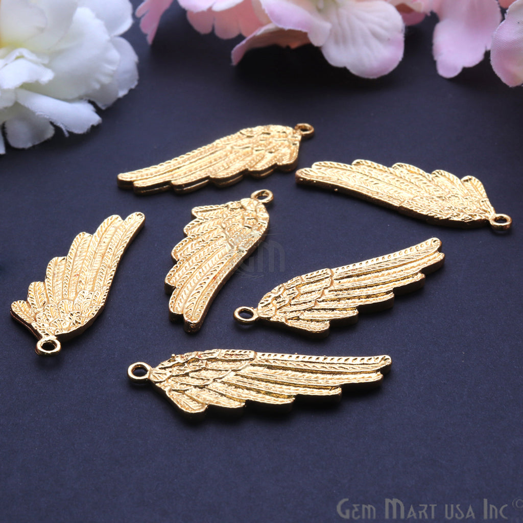 Angel Wings 42x15mm Chandelier Finding Charm Connector (Pick Your Metal)
