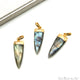 Labradorite Triangle 40x12mm Gold Single Bail Pendant