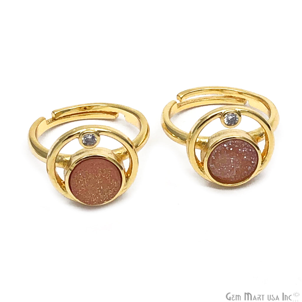 Orbit Druzy Gemstone Adjustable Ring (Pick Your Gemstone)