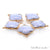 Blue Lace Agate Clover 24x17mm Gold Plated Double Bail Gemstone Connector