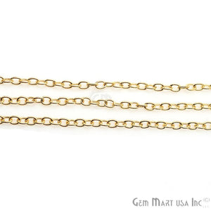 Link Finding Gold Plated Necklace Station Rosary Chain