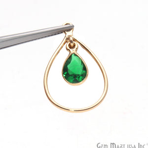 DIY Pear Shape Gemstone Dangle Connector - 1pc (Pick Your stone)