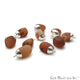 Rough Carnelian Matte Beads Organic 24x16mm Silver Electroplated Pendant Connector - GemMartUSA