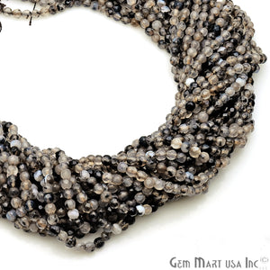 Rutile Jade 3-4mm Faceted Rondelle Beads Strands 14Inch