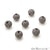 Cubic Zircon Round Beads Ball Silver Charm For Bracelet & Pendants