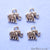 5pc Lot Elephant Shape Oxidized 12x11mm Charm For Bracelets & Pendants - GemMartUSA