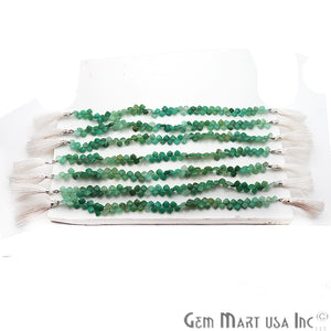 Chrysoprase Square Faceted Gemstone 7mm Rondelle Beads