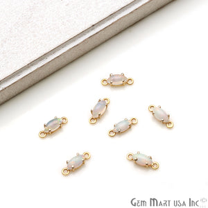 Opal Marquise 13x4mm Prong Setting Gold Plated Connector - GemMartUSA