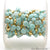 Amazonite & Gold 8-9mm Pyrite Gold Plated Rough Beads Rosary Chain - GemMartUSA