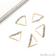 Triangle Bar Pendant 31x18mm Gold Plated Faceted Beads Connector