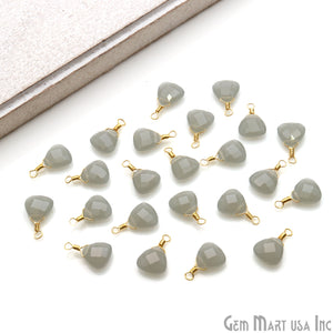 Trillion 8mm Gold Plated Wire Wrapped Gemstone Connector (Pick Stone) - GemMartUSA