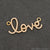 Cubic Zircon 'Love' Charm Gold Vermeil Pave Diamond Charm For Bracelet & Pendants