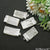 Selenite Rectangle 46x24mm Silver Connector Pendant