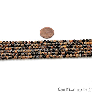 Bumble Bee Jade 4mm Faceted Rondelle Beads Strands 14Inch