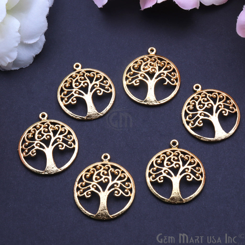 Tree of Life 27x24mm Chandelier Finding Charm Connector (Pick Your Metal)