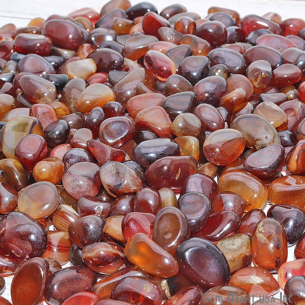 3.53oz Lot Multi Agate Tumbled Reiki Healing Metaphysical Beach Spiritual Gemstone