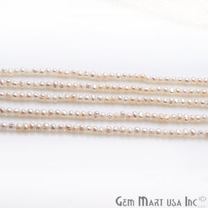 Pearl Round Beads 3-4mm Gemstone Rondelle Beads