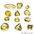 100 Cts Mix Lemon Topaz Stones 10-15mm Faceted Precious Loose Gemstones