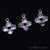 DIY Rainbow Moonstone 15x9mm Single Bail Chandelier Finding Component (Pick Your Metal) - GemMartUSA